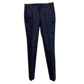 Moncler-Pantalon en jean sartorial-Bleu foncé