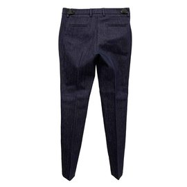 Moncler-Sartorial denim trousers-Dark blue