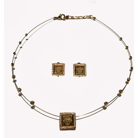 Gianni Versace-Ensembles de bijoux-Doré