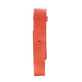 Hermès-Hermès, Bracelet montre Barenia-Orange