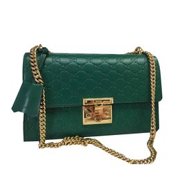 850c4e046432 Gucci-GUCCI HANDBAG PADLOCK SIGNATURE GREEN BRAND NEW SAC-Green ...