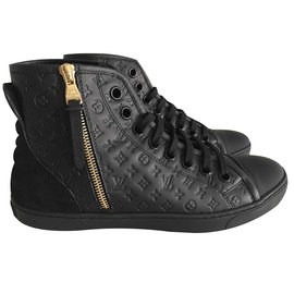 Louis Vuitton-Punchy sneaker boot-Black