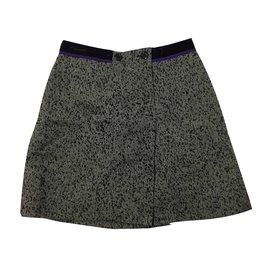 Louis Vuitton-Jupes-Noir,Blanc,Violet