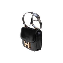 Hermès-Sublime Hermès Constance en cuir box noir en excellent état !-Noir