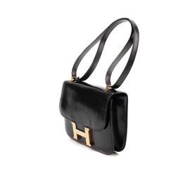 Hermès-Hermès Constance en cuir box noir en bon état !-Noir