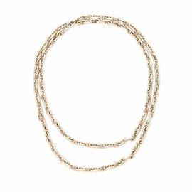 Hermès-SILVER VINTAGE SILVER ANCHOR CHAINS-Silvery
