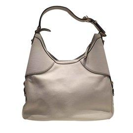 Gucci-GUCCI BAG HOBO BLANC - excellent état-Blanc