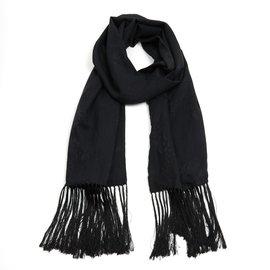 Christian Dior-BLACK SILK STOLE-Noir,Gris anthracite ... ad0a43e6edc