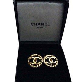 Chanel-Boucles d'oreilles-Doré
