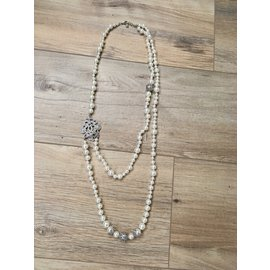 Chanel-Long necklaces-Silvery,Beige