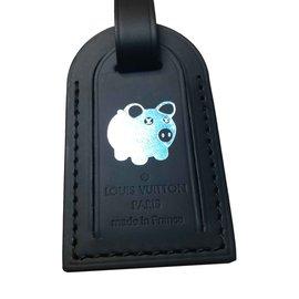 Louis Vuitton-Charmes de sac-Noir,Argenté