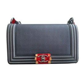 Chanel-Chanel boy bag-Grey