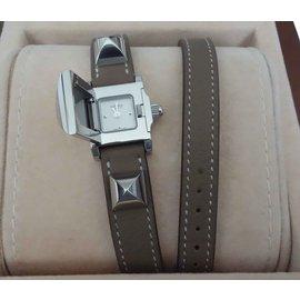 Hermès-WATCH HERMES MEDOR MINI-Grey