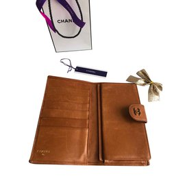 Chanel-portefeuilles-Marron