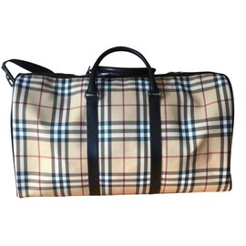 Burberry-Burberry Travel Bag-Beige,Other