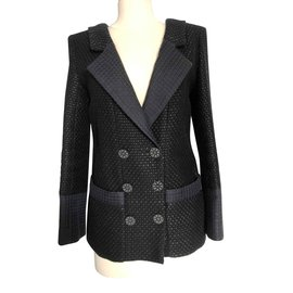 Chanel-Chanel Black Jacket size 40 (small)-Black