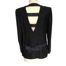 Chanel-Veste Noire Chanel taille 40 (petit)-Noir