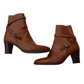 Hermès-Ankle Boots-Caramel