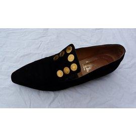 Hermès-Ballet flats-Black,Golden
