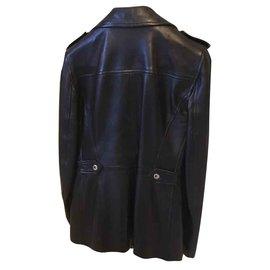 Dolce & Gabbana-veste  cuir-Noir