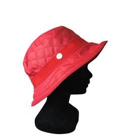 Hermès-chapeau de pkuie-Rouge