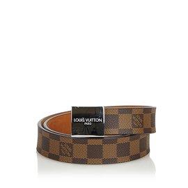 7fcecd0ec3c8 Louis Vuitton-Damier Ebene San Tulle Belt-Brown