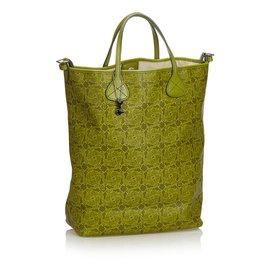 Céline-Printed Satchel-Green