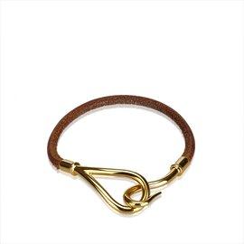 Hermès-Bracelet Crochet Jumbo-Marron,Doré,Marron foncé