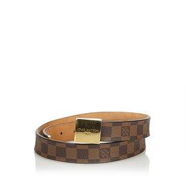c3a7c755aeec Louis Vuitton-Damier Ebene San Tulle Belt-Brown