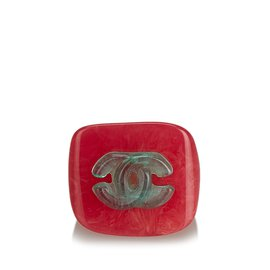 Chanel-CC Ring-Pink,Other,Green