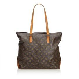 Louis Vuitton-Monogramme Cabas Mezzo-Marron