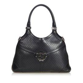 Gucci-cabas en cuir doublé G-Noir