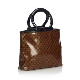 Céline-Macadam Tote Bag-Brown,Black