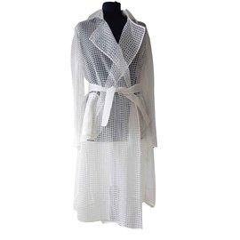 Vionnet-Trenchcoats-Aus weiß