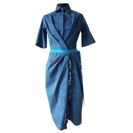Vionnet-Kleider-Blau