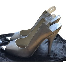 Gucci-Sanadles Gucci de Tom Ford-Argenté