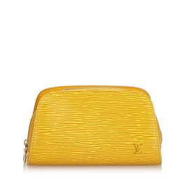 Louis Vuitton-Epi Pouch-Jaune
