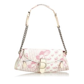 Dior-Baguette Toile Florale Oblique-Rose,Blanc,Écru ... c85edca00f3