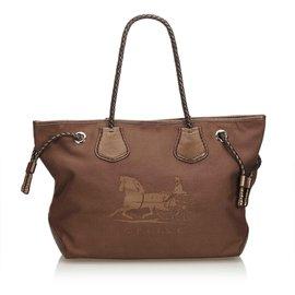 Céline-Canvas Tote Bag-Brown,Dark brown