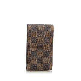 Louis Vuitton-Etui à cigarettes Damier Ebene Etui-Marron ... 13e36e088d7