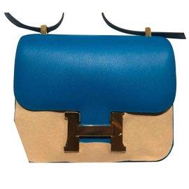 Hermès-Sacs à main-Bleu