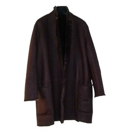 Céline-Coats, Outerwear-Dark brown