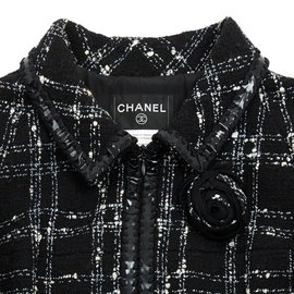Chanel-BLACK TWEED FR38-Noir