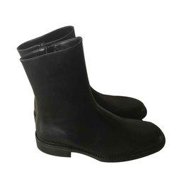 4fb402f212a Yves Saint Laurent-Yves Saint Laurent Rive Gauche Ankle Boots-Black ...