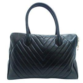Chanel-Sac à main Chanel Vintage-Noir
