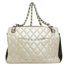 Chanel-Chanel Sac d'epaule-Blanc