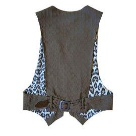 Jean Paul Gaultier-Vintage vest by Jean Paul Gaultier-Khaki