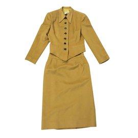 Hermès-Skirt suit-Mustard