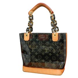 612f77fdebcd Louis Vuitton-Louis Vuitton Clear Vinyl-Marron ...