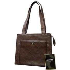 Chanel-Chanel Vintage Shoulder Bag-Brown